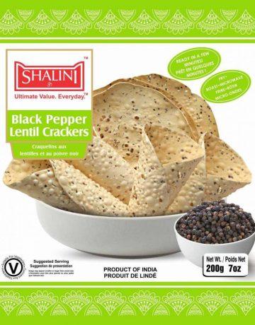 Black Pepper Lentil Crackers 200g