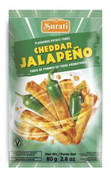 Cheddar Jalapeno Tubes 80g